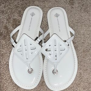 White Antonio Melani Sandals